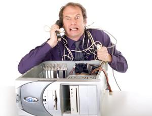 Businessman Computer Problems